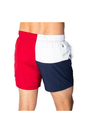 NAUTICA BETWEEN THE FLAGS ELASTICATED WAIST SWIM SHORTS NAUTICA RED