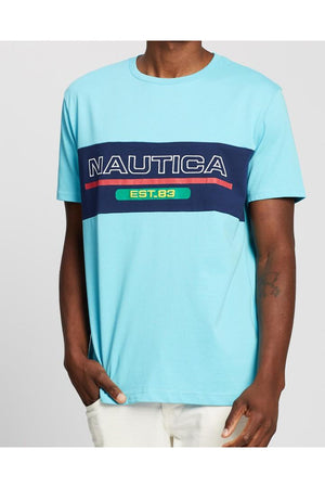 NAUTICA BS FASHION TEE - LIGHT BLUE