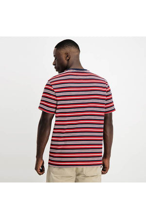 STRIPE POCKET TEE - TWILIGHT NAVY STRIPE