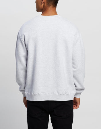 STUSSY CITY STACK CREW SNOW MARLE