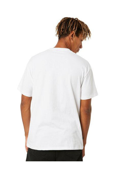 STUSSY CITY STACK TEE WHITE