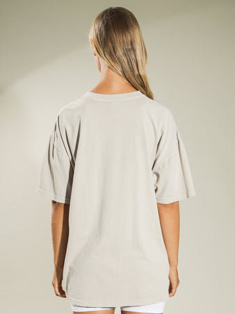 STUSSY DILLON RELAXED TEE WHITE SAND