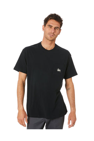STUSSY GRAFFITI POCKET SS TEE BLACK