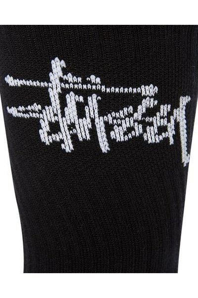 STUSSY MENS GRAFFITI CREW SOCK 3PK BLACK