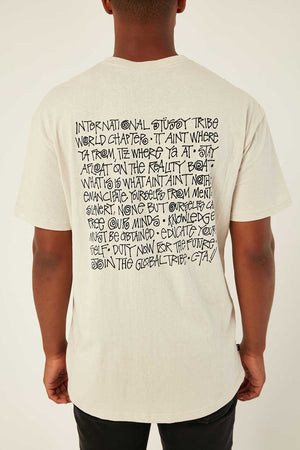 STUSSY SAY IT LOUD SS TEE WHITE SAND