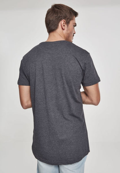 URBAN CLASSICS SHAPED LONG TEE - CHARCOAL