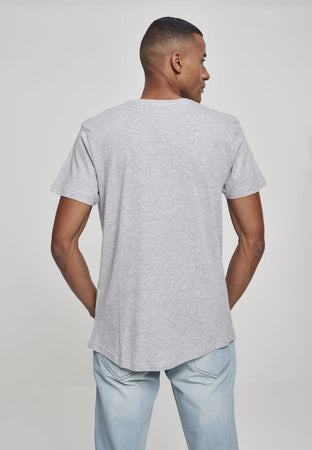 URBAN CLASSICS SHAPED LONG TEE - GREY