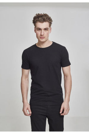 URBAN CLASSICS FITTED STRETCH TEE - BLACK