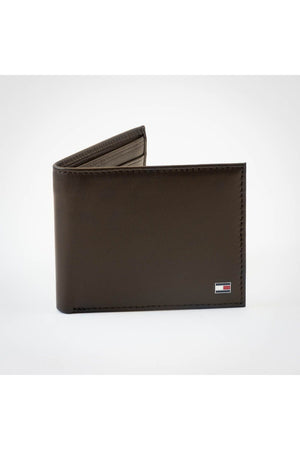 TOMMY HILFIGER MINI CC WALLET BROWN