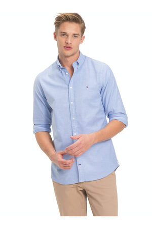TOMMY HILFIGER CORE STRETCH SLIM OXFORD SHIRT BLUE