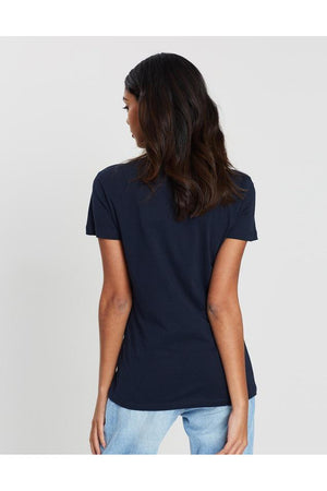 TOMMY HILFIGER WOMENS HERITAGE CREW NECK MIDNIGHT