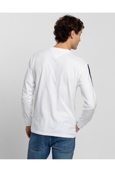 TOMMY JEAN LS TAPE TEE WHITE