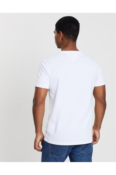TOMMY JEANS BADGE TEE - WHITE