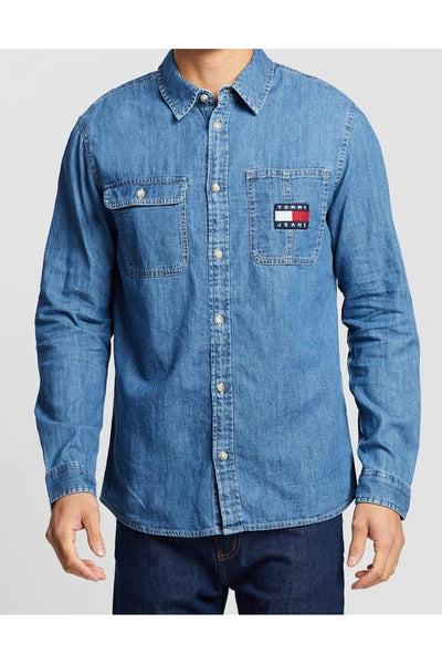 TOMMY JEANS DENIM BADGE SHIRT