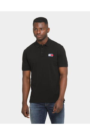 TOMMY JEANS TJM TOMMY BADGE POLO BLACK