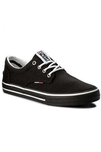 TOMMY JEANS textile sneaker Black