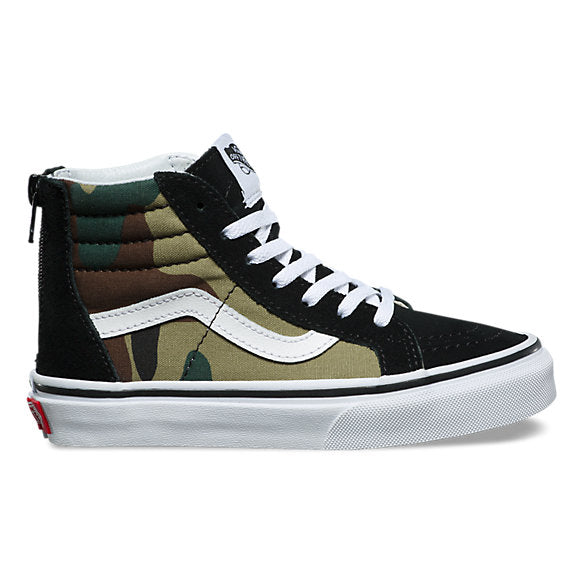 VANS SK8-HI ZIP TODDLER - BLACK/WOODLAND