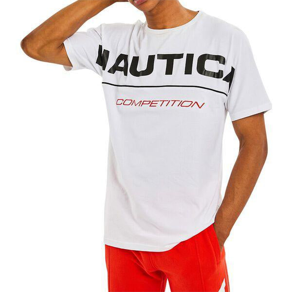 NAUTICA COMPETITION BARBER TEE BRIGHT WHITE