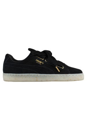 PUMA Womans Suede Heart Fabulous - Black