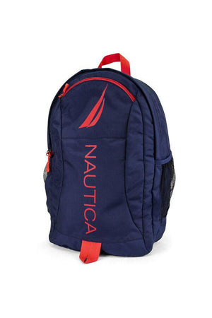 NAUTICA PANELLED BRIGHT LOGO BACKPACK RED