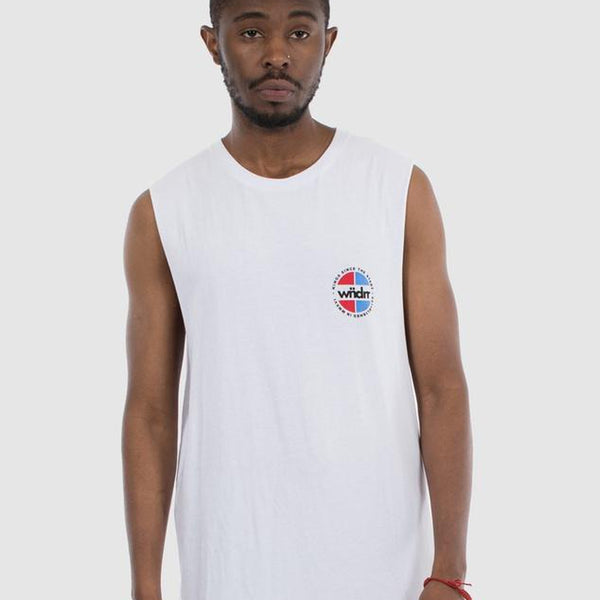 WNDRR TOURER MUSCLE TOP - WHITE