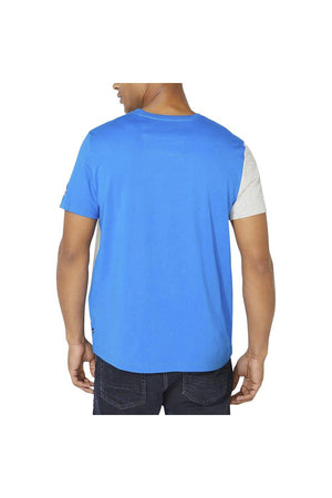 nautica blocked tee blue