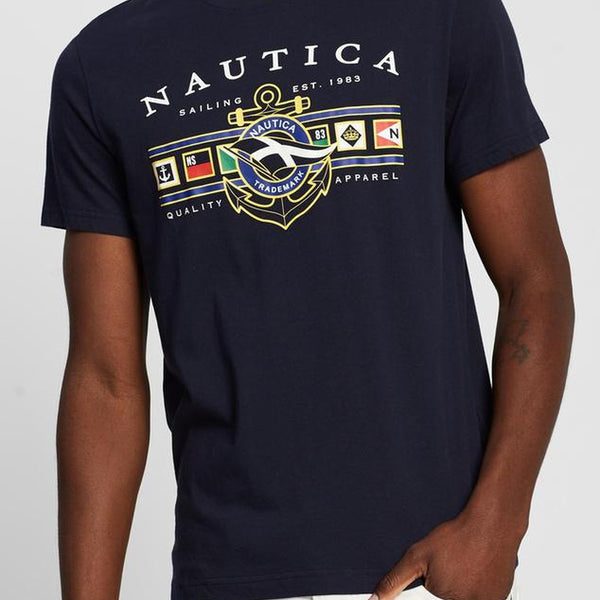 nautica colored flag tee