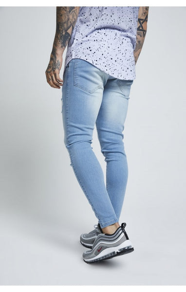 SIKSILK DISTRESSED SKINNY DENIM - LIGHT WASH