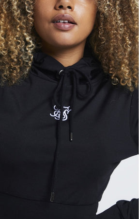 SIKSILK ZONAL TRACK TOP - BLACK