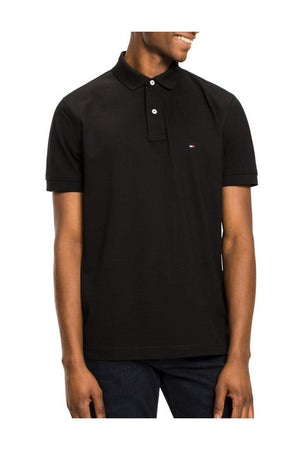 TOMMY HILFIGER REGULAR POLO FLAG BLACK