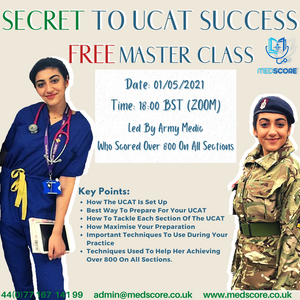 SECRET TO UCAT SUCCESS MASTER CLASS 01/05/21
