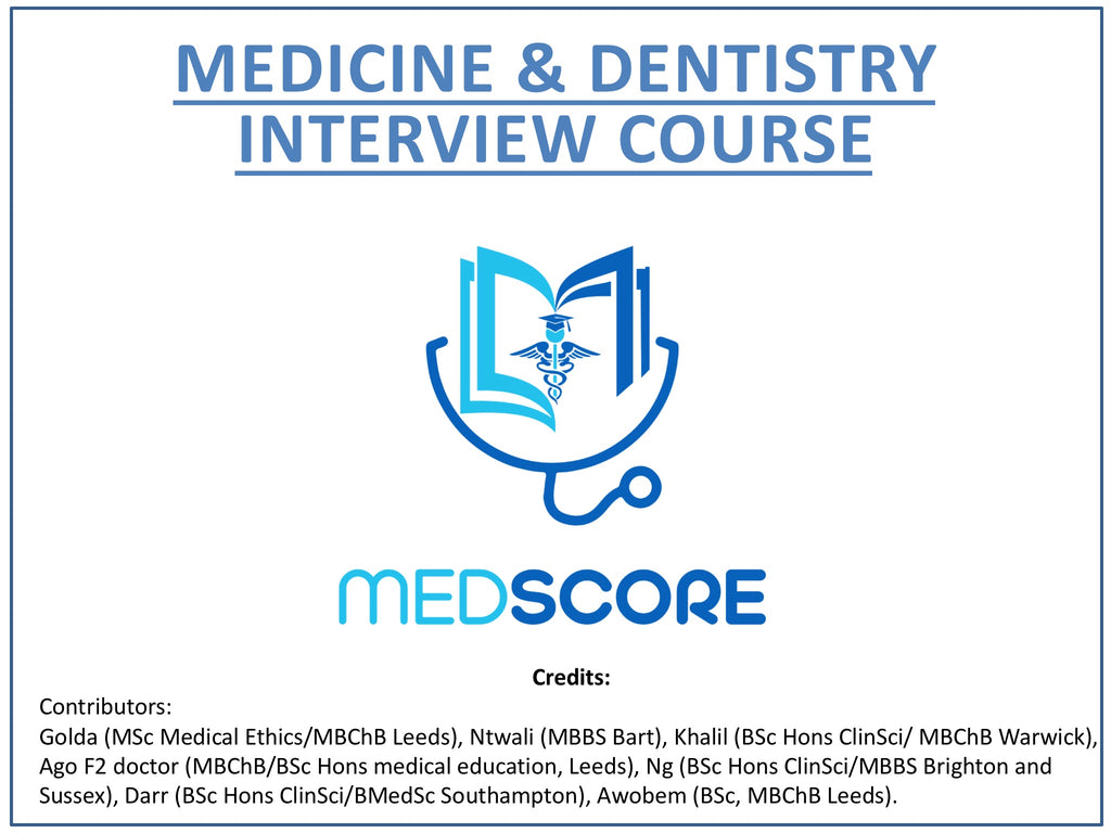 Full MMI & Panel Medicine Interview Course + Mock Interview (Zoom Class) + Booklet + Final Call.
