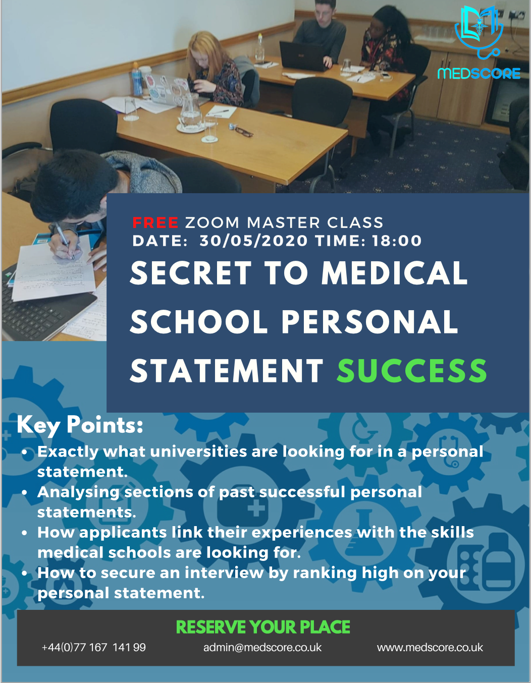 SECRETE TO PERSONAL STATEMENT SUCCESS MASTER CLASS