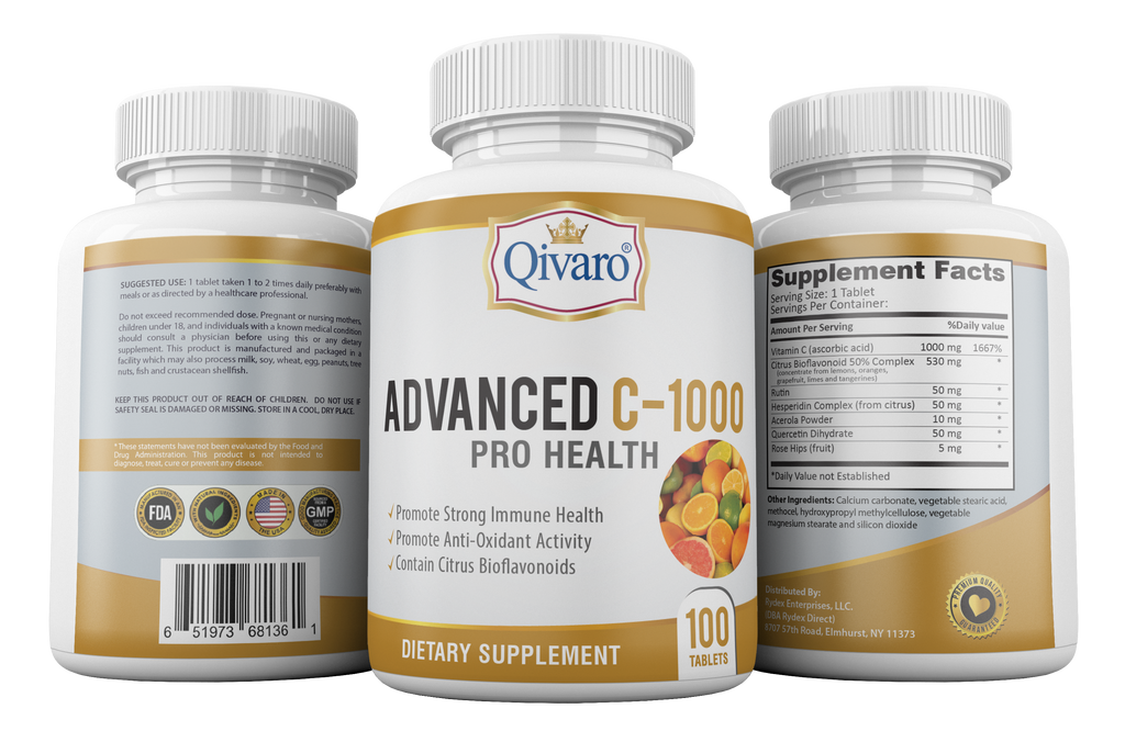 Advanced C-1000 Pro Health by Qivaro - 100 Tablets