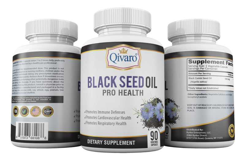 Black Seed Oil By Qivaro (90 Liquid Vegetable Capsules) - Qivaro USA