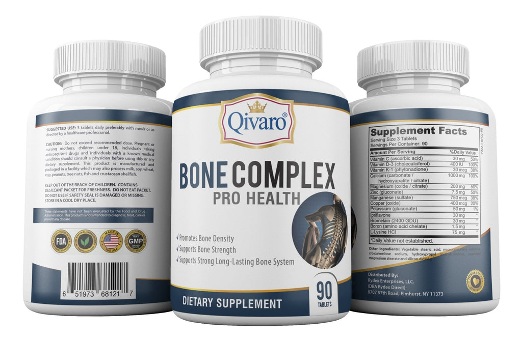 Bone Complex Pro Health by Qivaro (90 tablets) - Qivaro USA