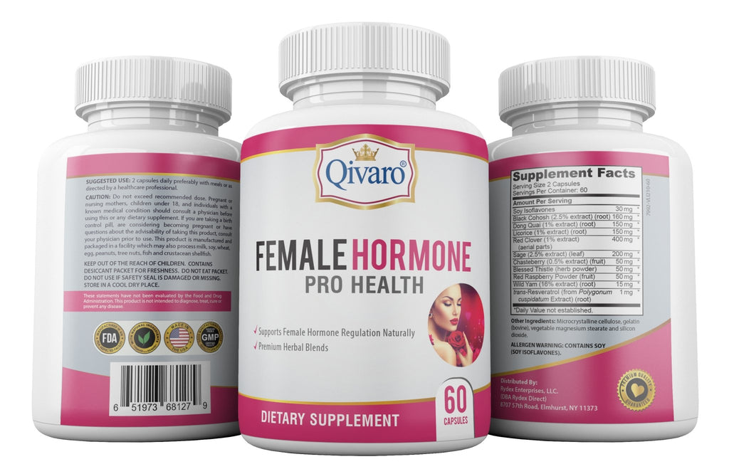 Female Hormone Pro Health By Qivaro - (60 capsules) - Qivaro USA