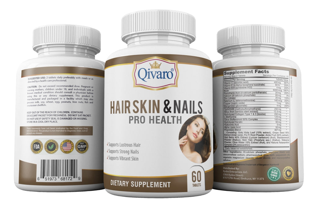 Hair Skin Nails Pro Health By Qivaro (60 tablets) - Qivaro USA
