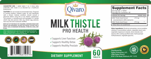 Milk Thistle Pro Health By Qivaro (60 tablets) - Qivaro USA