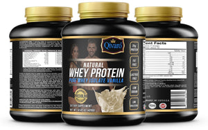 Natural Whey Protein w/ pure whey isolate - Vanilla Flavor - 420 grams - Qivaro USA