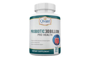 Probiotic 30 Billion Pro Health By Qivaro - (30 veggie caps) - Qivaro USA