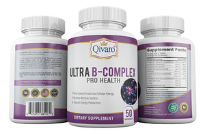 QIH13 - Ultra B-Complex Pro Health By Qivaro (50 coated tabs) - Qivaro USA