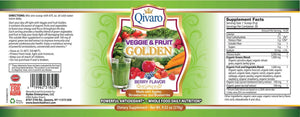 QIVP01 - VEGGIE & FRUIT GOLDEN By QIVARO 270g - Qivaro USA