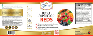 QIVP03 - Ultra SuperFood Reds By Qivaro - Berry Fruit (300 grams) - Qivaro USA