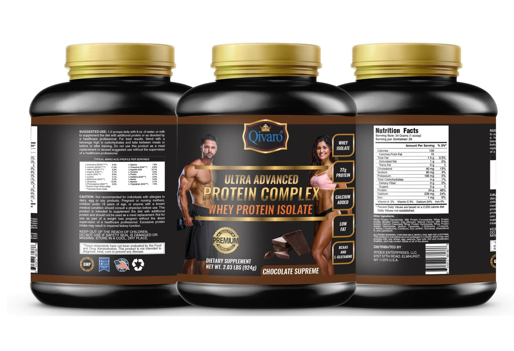 Ultra Advanced Whey Protein Complex - Chocolate Supreme 超級健肌乳清蛋白粉朱古力 408 grams - Qivaro USA