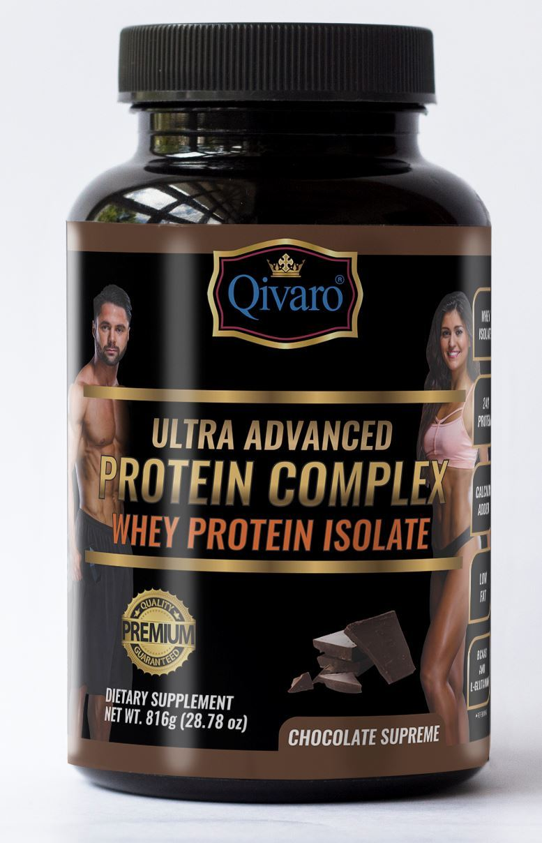 Ultra Advanced Whey Protein Complex - Chocolate Supreme 超級健肌乳清蛋白粉朱古力 816 grams - Qivaro USA