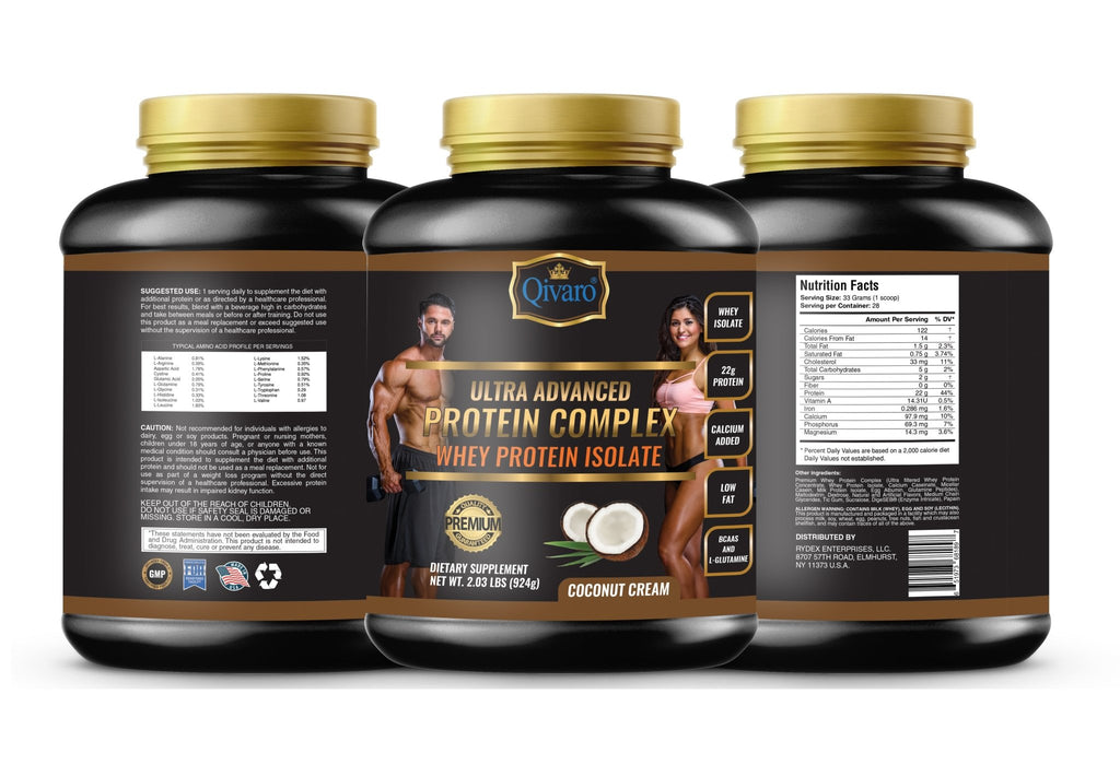 Ultra Advanced Whey Protein Complex - Coconut Cream 超級健肌乳清蛋白粉椰香 924 grams - Qivaro USA