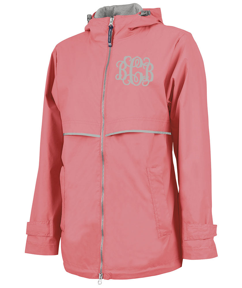 cf8341eb6 Monogrammed Women's New Englander Rain Jacket By Charles River Apparel