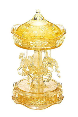 3D Crystal Puzzle - Deluxe Gold Carousel
