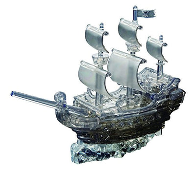3D Crystal Puzzle - Deluxe Pirate Ship Black